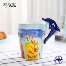 3D Animal Shape Hand Painted Ceramic 450 ML Coffee Mugs