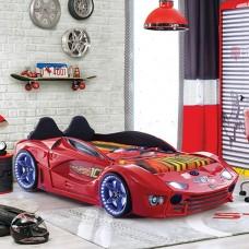 Luxury Kids Red Race Car Bed