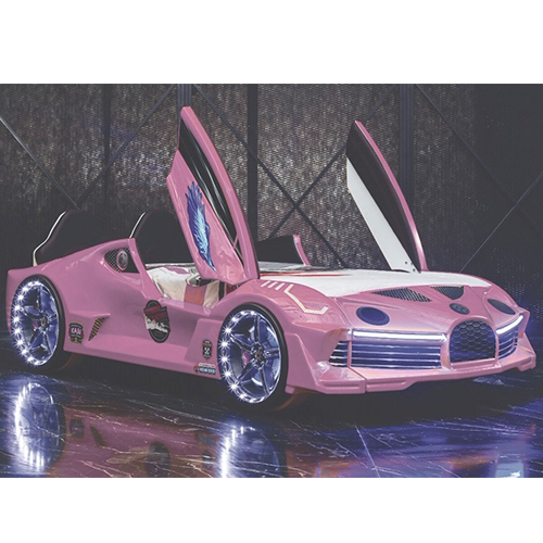 Luxury Pink Race Car Bed Design For Little Champs