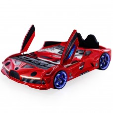 Luxury Race Red Double Car Bed Design For Little Champs
