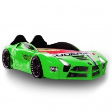 Racing Green Car Bed Design For Little Champs