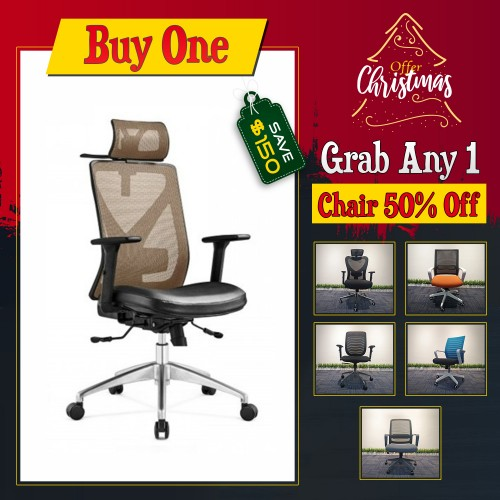 Christmas New Boss Executive office chair ergonomic Support and Cloth hanger modern design