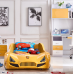 New Kids Race Car Bed Yellow  with Music 8 GB Memory card LED wheel/Head/Side lights