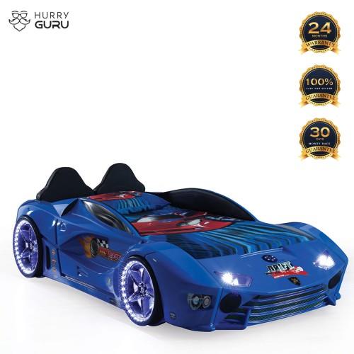 Luxury Kids Blue Race Car Bed