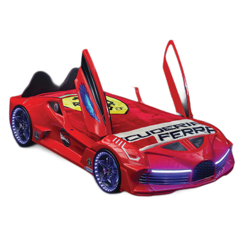 Luxury Race Red Car Bed Design For Little Champs