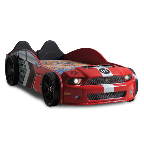 Children Racing Car Night Red Bed For Boys Girls