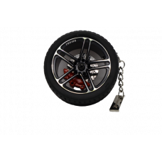 Collectable Tire Key Chain Wheels Hub Rim Key Chain with Leather Keyrings