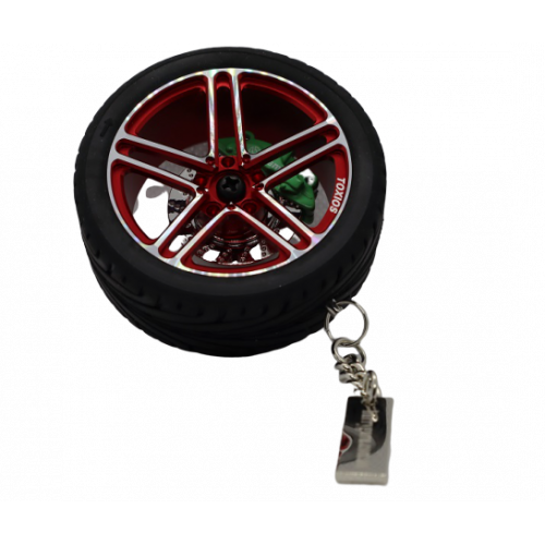 Collectible Tire Key Chain with Leather Rope Keyrings Car Wheel-look Key Chain
