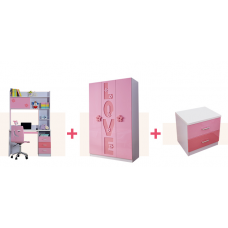 New Kids Bedroom Furniture Accessories for Girl Bedroom, HDF Quality Full Set (3 Accessories Included)