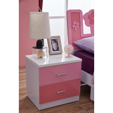 New Bedside Table with 2 Drawers, Side Table Storage Cabinet For Bedroom or Living Room
