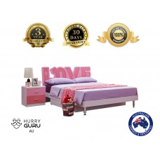 New Storage LOVE Bed Frame For Girls Bedroom LOVE Bed Stand with Full Suspension