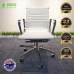 Christmas White Office Chair PU Leather Mid Back Adjustable Executive Gaming Seat