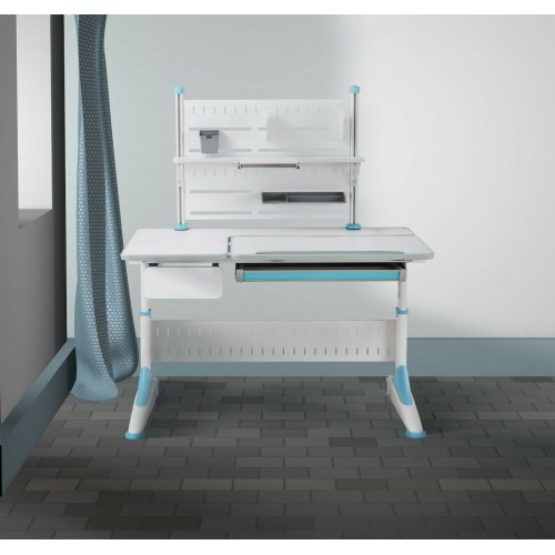 New Kids Study desk Blue with open Book shelf, Angle adjustment for the table top