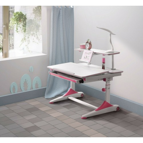 New kids Pink study desk with Adjustable Table height, Ergonomic designed for child