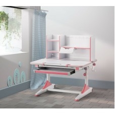 New Kids Study Table Pink ,open book shelf Adjustable height Handle boys girls teen
