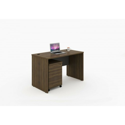 Computer Office modern Desk table with Three drawer mobile pedestal with keylock