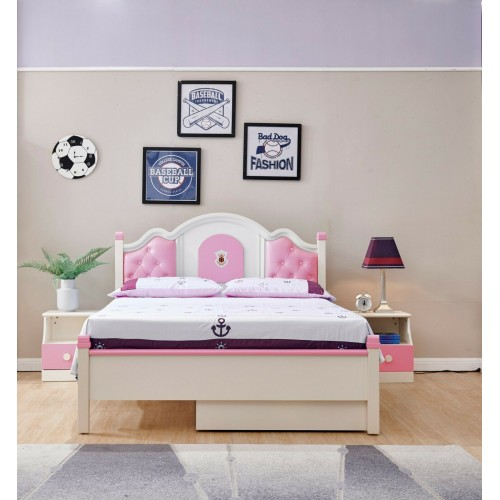 Double Bed set for Girls/ Teen/ Children With Bed Side Table