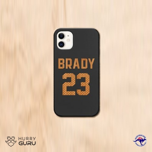 """"""" Customize Name and Number """" Wood Personalized Engraved Phone Case"""