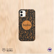 """"""" Customize Name """" Wood Personalized Engraved Phone Case"""